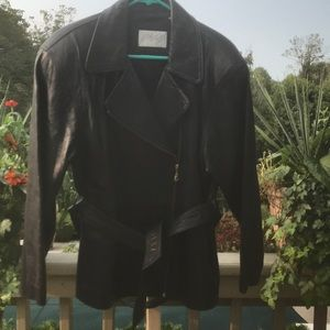 Lord& Taylor - Ladies black leather jacket, Size 8
